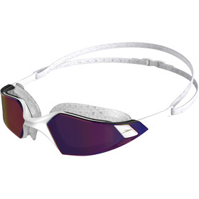 speedo Aquapulse Pro Mirror Occhialini da nuoto, white/clear/purple gold